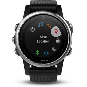 Garmin fenix 5S GPS Multi Sport Watch With black bracelet, silver